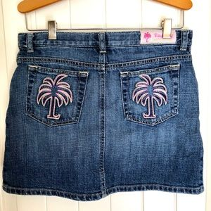 Girls Lilly Pulitzer Denim Skort